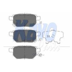 Комплект тормозных колодок, дисковый тормоз (kavo parts) KBP9025