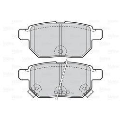Комплект тормозных колодок, дисковый тормоз (Valeo) 302085