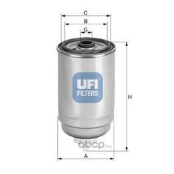 Топливный фильтр (UFI) 2443900