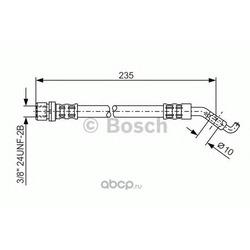 Шланг тормозной 235mm задний (BOSCH) 1987476207