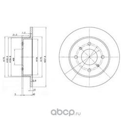 Тормозной диск (Delphi) BG2633