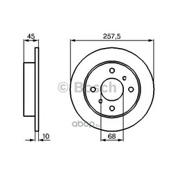 Тормозной диск (BOSCH) 0986478564
