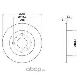 Тормозной диск (Mintex) MDC1006
