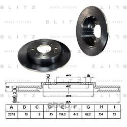 Диск тормозной (Blitz) BS0131