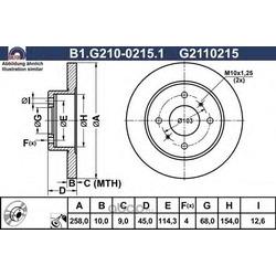 Тормозной диск (GALFER) B1G21002151