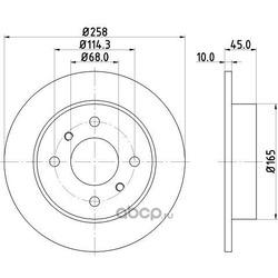 Тормозной диск (DON) PCD12802