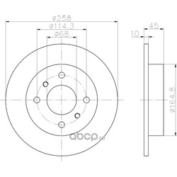 Тормозной диск (Hella) 8DD355102661