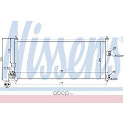 Радиатор кондиционера (Nissens) 94589