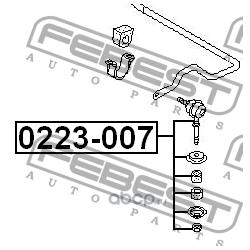 Тяга стабилизатора передняя (Febest) 0223007