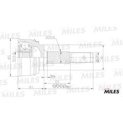Шрус наружный (Miles) GA20282