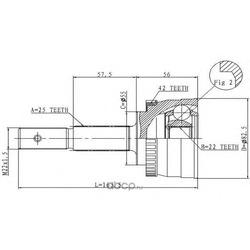 Шарнирный комплект, приводной вал (STATIM) C525