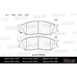 Колодки тормозные передние (Miles) E400363