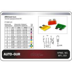 Предохранитель (20a стандарт желтый флажковый) (Auto-GUR) AGFT20A