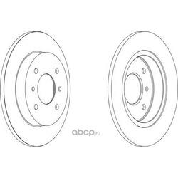Диск тормозной задний (Ferodo) DDF267