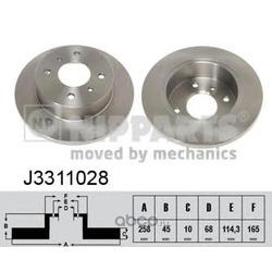 Диск тормозной задний (Nipparts) J3311028