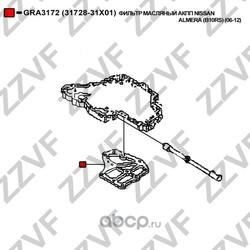 Фильтр масляный акпп (ZZVF) GRA3172