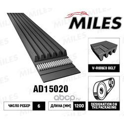 Поликлиновой ремень (Miles) AD15020
