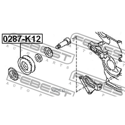 Ролик натяжной ремня кондиционера (Febest) 0287K12