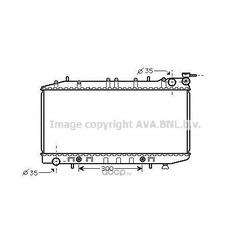 Радиатор, охлаждение двигателя (Ava) DN2203