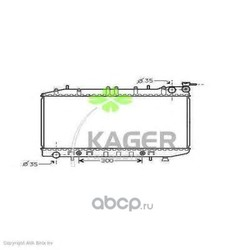 Радиатор, охлаждение двигателя (KAGER) 310270