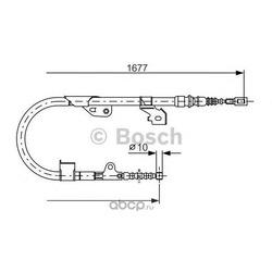 Трос, стояночная тормозная система (BOSCH) 1987477536