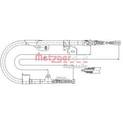 Трос, стояночная тормозная система (Metzger) 170113