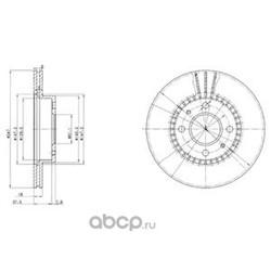 Диск тормозной передний (Delphi) BG3134