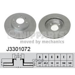 Диск тормозной передний вентилируемый (Nipparts) J3301072