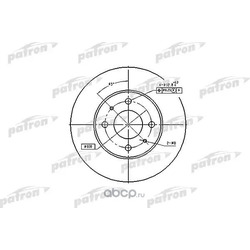 Диск тормозной передний (PATRON) PBD4018