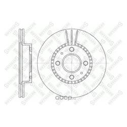 Диск тормозной передний (STELLOX) 60202245VSX