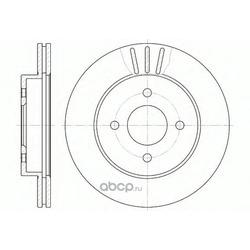 Диск тормозной передний (Remsa) 676110