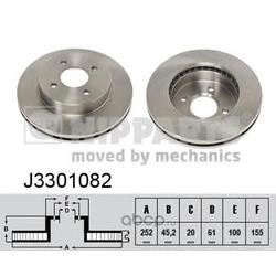 Диск тормозной передний вентилируемый (Nipparts) J3301082