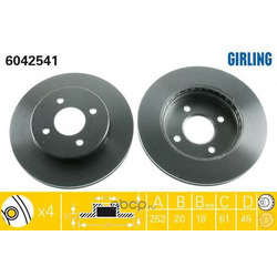 Тормозной диск (Girling) 6042541