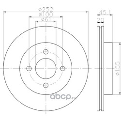 Тормозной диск (Hella) 8DD355112961