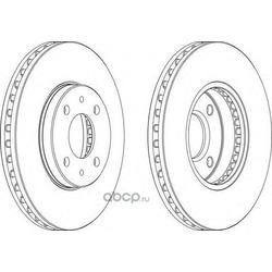 Тормозной диск (Ferodo) DDF716
