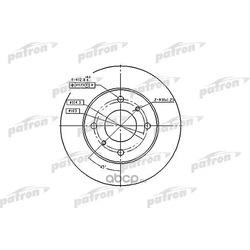 Диск тормозной передний (PATRON) PBD2591