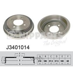 Тормозной барабан (Nipparts) J3401014