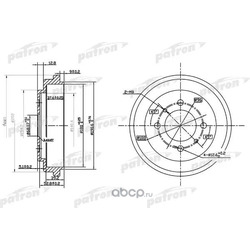 Тормозной барабан (PATRON) PDR1112