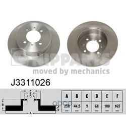 Диск тормозной задний (Nipparts) J3311026