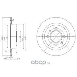 Тормозной диск (Delphi) BG3126
