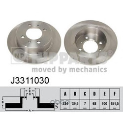 Диск тормозной задний (Nipparts) J3311030