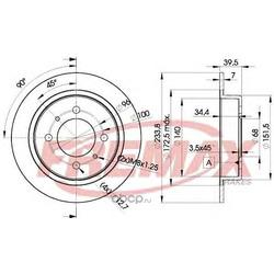 Тормозной диск (FREMAX) BD5803