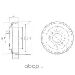 Тормозной барабан (Delphi) BF481