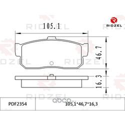 Колодки тормозные дисковые задние (RIDZEL) PDF2354