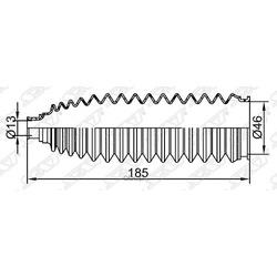 Пыльник рулевой рейки (SAT) ST482034M525
