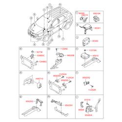 Внутренняя антенна противоугонной системы (Hyundai-KIA) 954203K100
