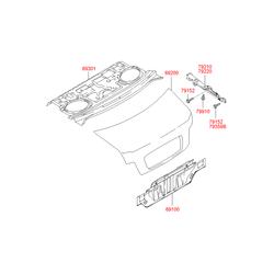Крышка багажного отсека (Hyundai-KIA) 692003D060