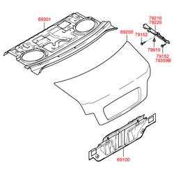 Крышка багажного отсека (Hyundai-KIA) 692003D061