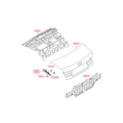 Крышка багажного отсека (Hyundai-KIA) 692003K021