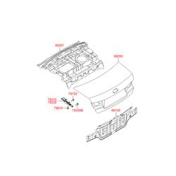 Крышка багажника (Hyundai-KIA) 692003K022